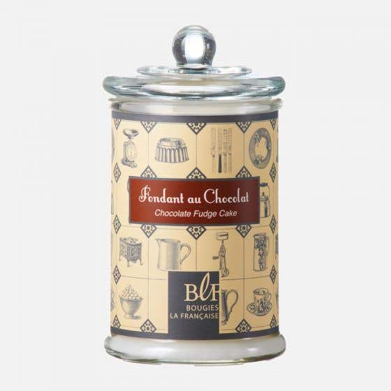 Scented Candle Chocolate Fudge Cake in Large Glass Jar by Maison Berger Paris