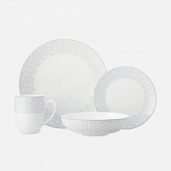 Ensemble de vaisselle 16 pièces«Harlequin »- gris