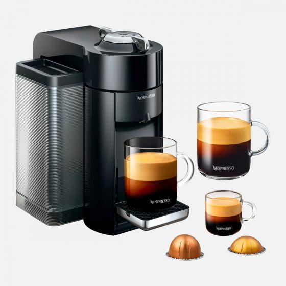Evoluo Deluxe Black Nespresso Capsule Machine by Delonghi