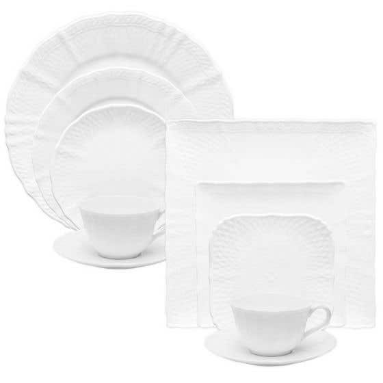 Cher Blanc Dinnerware Collection by Noritake
