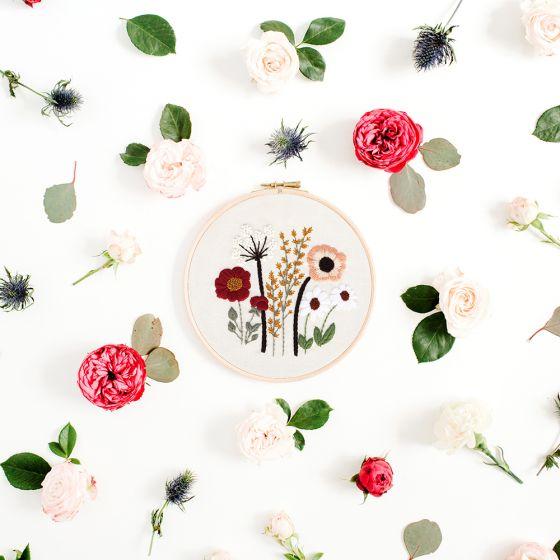 Poppy DIY Embroidery Kit by Oriwest