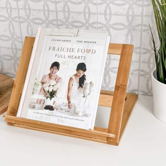 Danesco Bamboo Recipe Book Holder