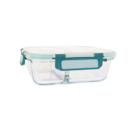 Divided Medium Glass Food Container