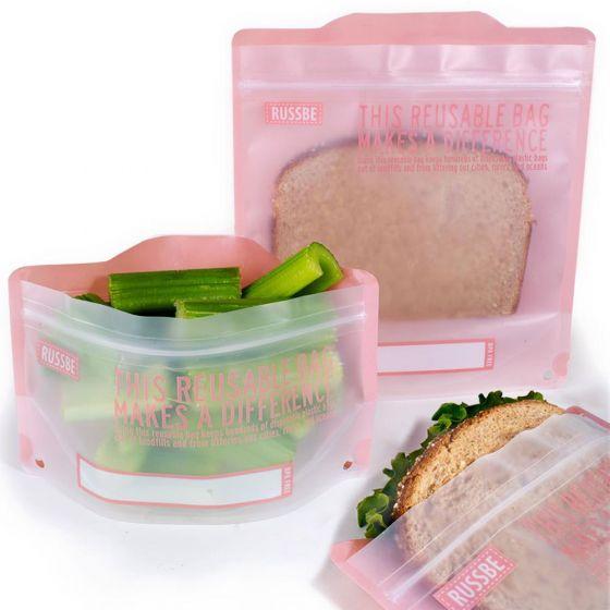 Ensemble de 4 sacs à collation et à sandwich réutilisables par Russbe