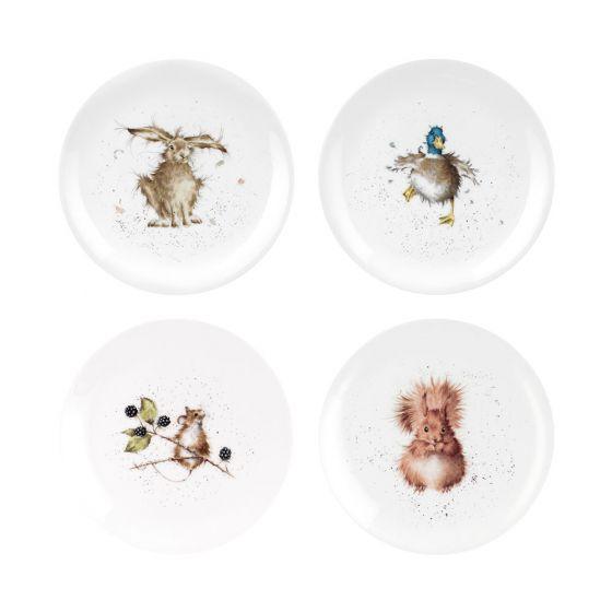 Ensemble de 4 assiettes«Wrendale»par Royal Worcester