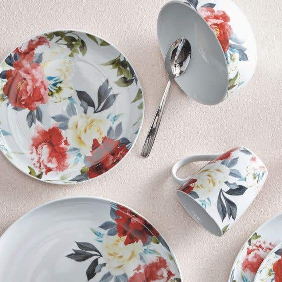 Rose Garden 16-Piece Dinnerware Set