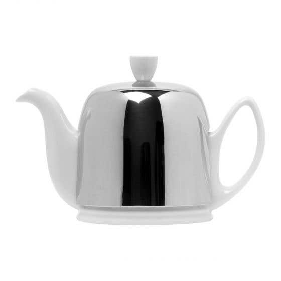 White Teapot 4 Cups by Guy Degrenne