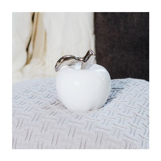 Orchard Ceramic Apple in White