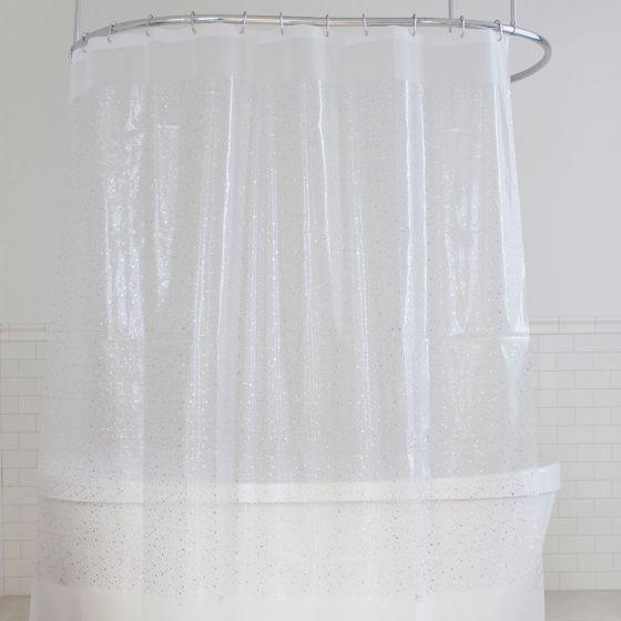 Rideau de douche en vinyleorné d'étoiles métalliques