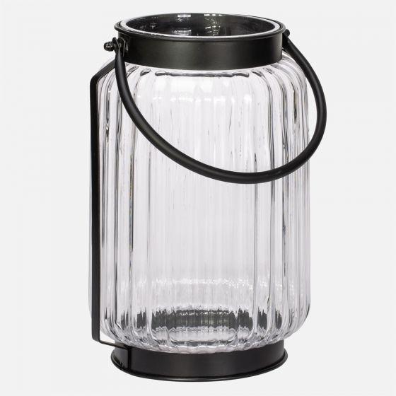 Lanterne « Gibson » en verre ondulé - 10po