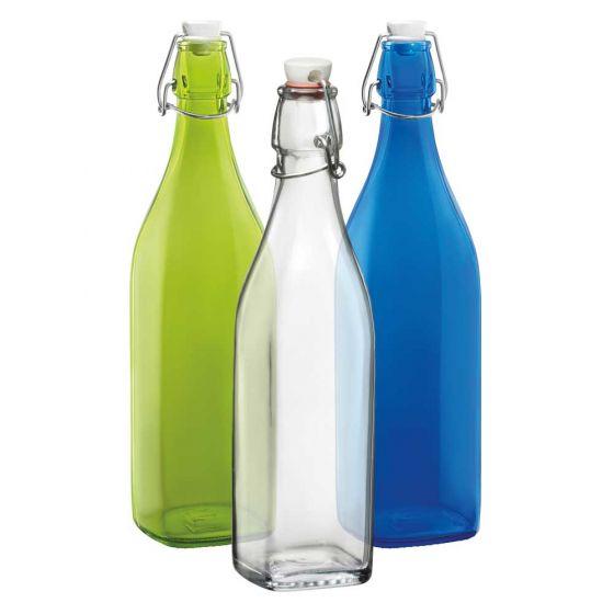 Bormioli Rocco Glass Square Bottles