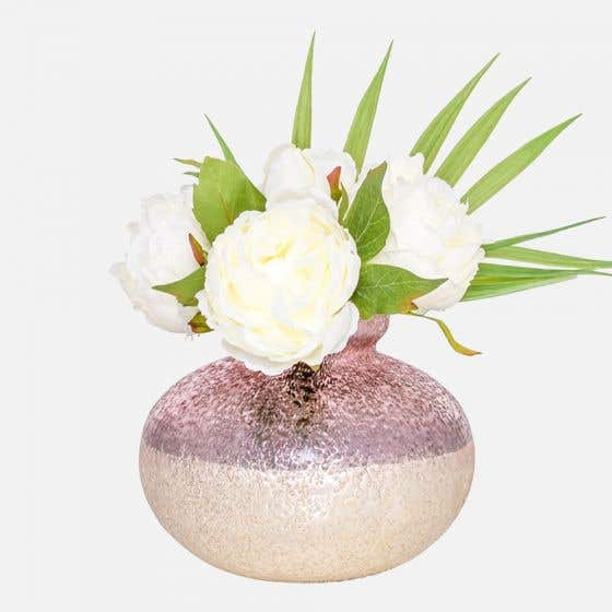Alma Antique Silver/Pink Vase by Torre & Tagus