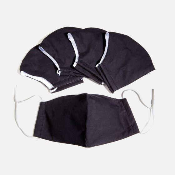 Paquet de 5 masques réutilisables unis«Ultra Comfort»