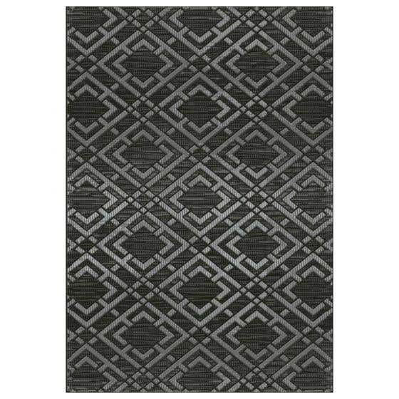 Collection de tapis Vermont Element - noir et gris