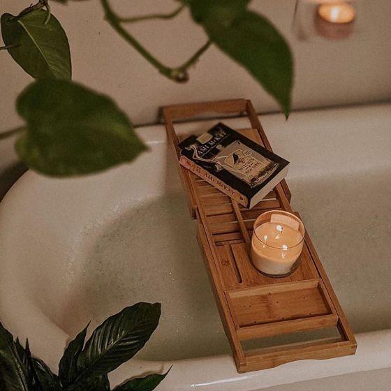 Pont de bain en bambou