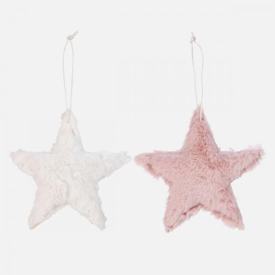 Faux Fur Star Ornament