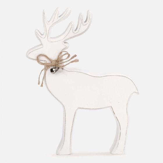 White Reindeer Christmas Decoration
