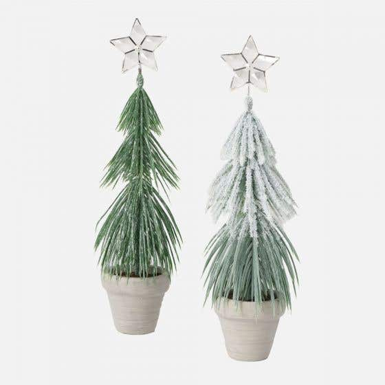 Assorted Pine Tree with Crystals