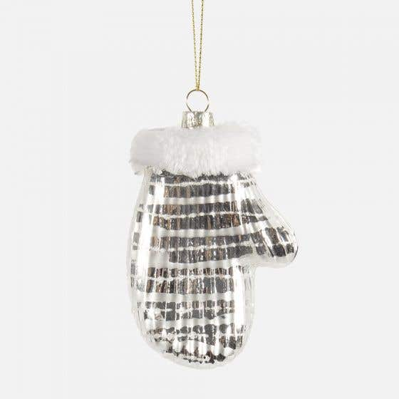 Mitten with Fur Ornament