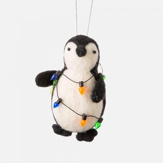 Penguin with Lights Ornament