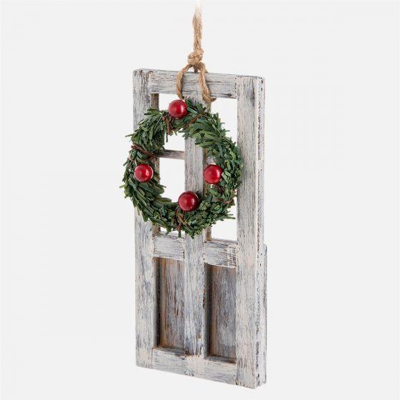Door with Wreath Ornament