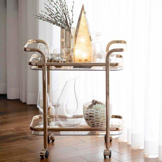 Tess 2-tier Rose Gold Trolley