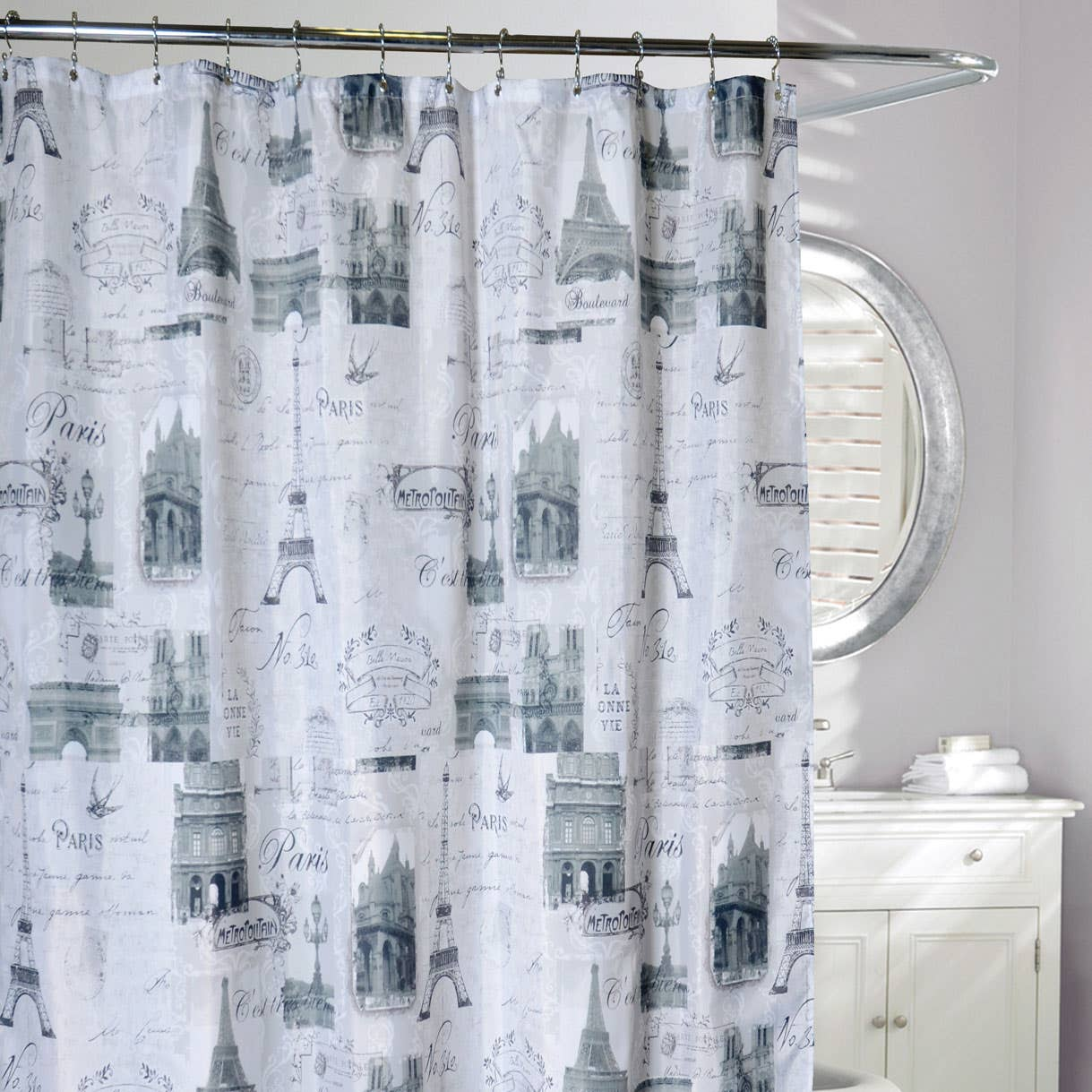Products in Shower Curtains, Bath on Linen Chest