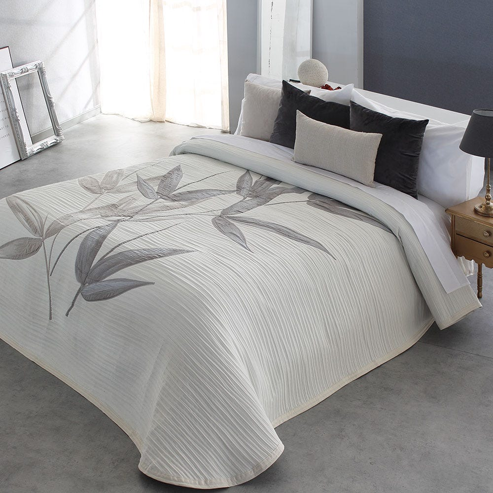 Roebert Couverture souple de lit avec la jupe de lit Dessus de lits et couvre-lits