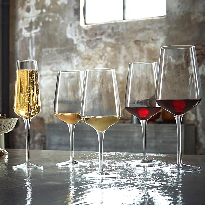 Set 6 de couleur des verres de vin vin rouge verres de